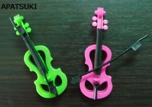 """2pcs/lot Kid's Play House Plastic Toy Violin For 11.5"""" Dollhouse Birthday Gift"""
