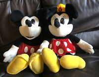 Walt Disney Company Mickey Mouse & Minnie Mouse Vintage Soft Toys Plush ( Rare )