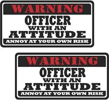 "2 - 3"" Officer Police Warning Tools Auto Motorcycle Decal Hard Hat Sticker WS1"