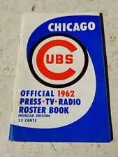 RARE 1962 Chicago Cubs Official Roster Book Press TV Radio Media Guide w/SIGS!
