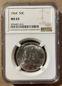 1964 USA Fifty Cents NGC MS 65 - Kennedy Half Dollar - Silver