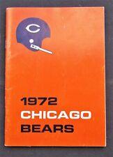 1972 Chicago Bears Media Guide - Dick Butkus