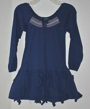CHAPS Size 3T Blue Ruffles Smocked Long Sleeves Dress
