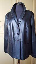 NWT MARINA RINALDI max mara 100% leather Jacket MR23-EU/52-US/14