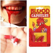 Fake Halloween Blood Capsules Trick Joke Halloween Horror Vampire Zombie Party A