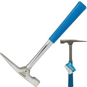Silverline 16oz Tubular Shaft Brick Hammer Rubber Handel Hardened Steel Head