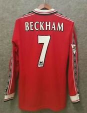 1998-99  Manchester United Home Long sleeve Retro soccer jersey
