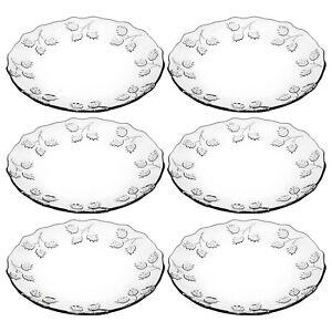 6 12 Pasabahce Pastoral Glass Dessert Plates Dinner Serving Side Salad Kitchen