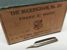 New single (1) Frank E Wood brand No. 207 tip fountain ink dip pen replace nib
