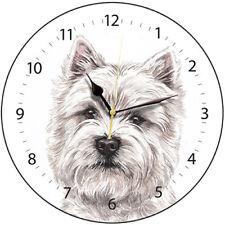 West Highland Terrier Westie Dog Print Round Wall Clock