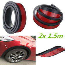 Car Wheel Trim 2x 1.5m Universal Rubber Fender Moulding Flares Protection Strip