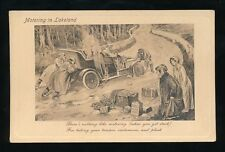 Cumbria lLakeland Motoring COMIC breakdown bad weather c1900/10s die sunk PPC
