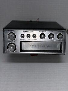 Vintage Pioneer Under Dash Am / Fm 8 Track Tape Player Car Deck TP-727