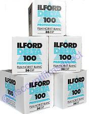 5 x ILFORD DELTA 100 35mm 36 exp CHEAP BLACK & WHITE CAMERA FILM -1st CLASS POST