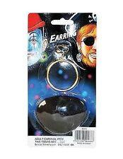 Pirate Ear Ring & Eyepatch Eyewear Accessory for Sailor Buccanneer Fancy Dress E