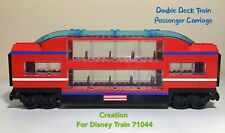 Lego City Passenger Train Double Deck Passenger Carriage Design For Disney 71044