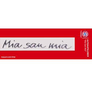 Aufkleber Mia san mia FC Bayern München Autoaufkleber 3D Chromflex Sticker FCB