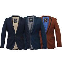 Mens Blazer Marc Darcy Formal Coat Dinner Jacket Smart Suit Designer Winter New