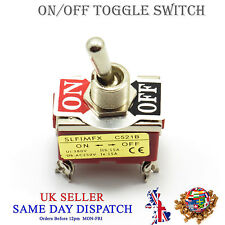 DPST ON / OFF Toggle Switch Flick 15A 250V LED Light Double Pole Single Throw
