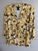 Womens Ann Taylor Petite Top Size LP in Yellow