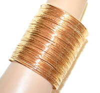 PULSERA ORO metal rígido esclava mujer brazalete multi-hilo dorado bracelet BB12