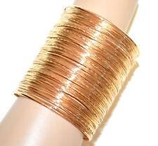 f314a3456727 PULSERA ORO metal rígido esclava mujer brazalete multi-hilo dorado bracelet  BB12