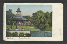 1905 Saratoga Congress Spring Park Ny Udb Undivided Back Postcard