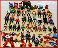 Huge Lot Playmobil Mix Figure Character People Animal Boy Girl Elephant Soccer