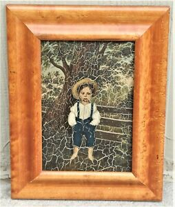 Folk Painting of Young Boy