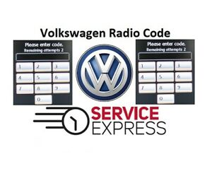 VW Volkswagen Radio Code Unlock Stereo Codes | RCD 310 300 200 210 215