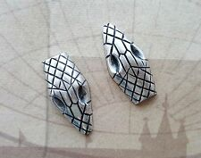 Large Oxidized Silver Snake Head Stampings (2) - Sos2933