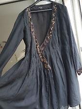 Claire DK Kleid Wickelkleid Gr. 38 Schwarz super Qualität! Mantelkleid Überwurf