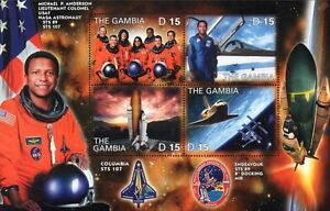 Michael P. Anderson: NASA STS-107 Space Shuttle COLUMBIA Astronaut Stamp Sheet