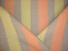 1+y COLEFAX FOWLER EXQUISITE KIWI GREEN / ORANGE / TAUPE LINEN UPHOLSTERY FABRIC