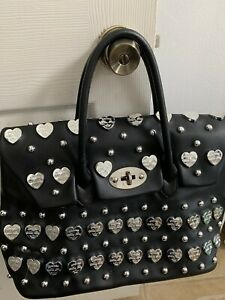 One Of A Kind Vegan Italian XL Hand Bag Black Choose Mia Bag! $ Dust Bag