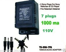 Universal AC/DC power adapter Output 1.5/3/4.5/6/7.5/9/12 1000ma 2 sony plugs