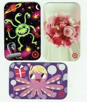 Target Gift Card LOT of 3 Alien, Octopus, Bride Bouquet - Older / 2006 -No Value