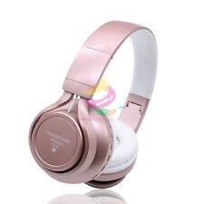 Pink-ZH74 FM BT Auriculares Auriculares Estéreo para Galaxy de llamada de teléfono