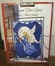 Kirkland Signature Stained Glass Panel and Metal Stand Angel
