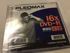 Pleomax SAMSUNG DVD-R 16X 120 Min 4.7 GB NEW FREE Shipping 1 pack in jewel
