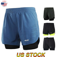 US Men's Summer Breathable Elastic Shorts Gym Sports Running Casual Short Pants