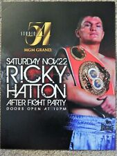 BOXING RICKY HATTON STUDIO 54 MGM VEGAS  AFTER PARTY MAY 2 2009 PROMO FLYER RARE