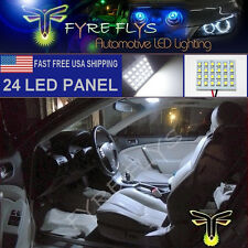 1x 6000K Xenon White 24 LED Panel Light for Dome, Map, Cargo, Trunk lights #24PW