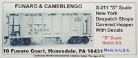Funaro F&C S-211 211 NEW YORK CENTRAL Covered Hopper NYC Despatch Shops S-Scale