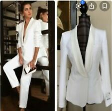 Zara Ecru White Shawl Collar Jacket Blazer Size L UK14 Bnwt