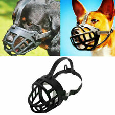Adjustable Dog No Bite Silicone Basket Muzzle Cage Mouth Mesh Cover for 6 Sizes
