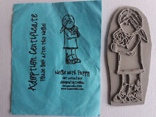 Sugar Nellie Stamps – Nellie with puppy – Designed by Eveline - Craft Clear Out