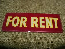 Vintage Metal FOR RENT Sign > Antique Signs Reflective Store Warning Farm 6154