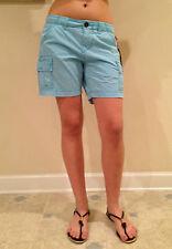 True Religion Shorts BOYFRIEND CARGO Marina Blue Size 25 NEW