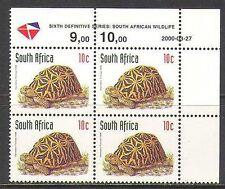 RSA 1998 Tortoise/Animals/Nature/Wildlife rdrw 2000 rpnt 1v c/b  (za10053)